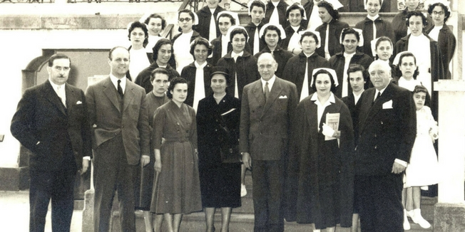 SEP | Alunas da Escola de Enfermagem da Rainha Santa Isabel - 1957