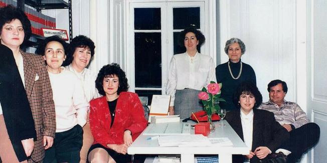 SEP | Funcionários do SEP. Inauguração da sede nacional. Av. Duque de Loulé - 1990