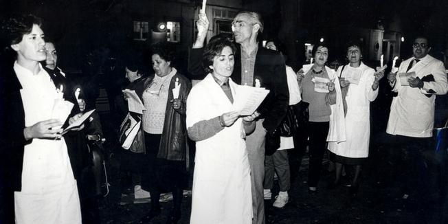 SEP | Vigília à residência do Primeiro-ministro - 1986