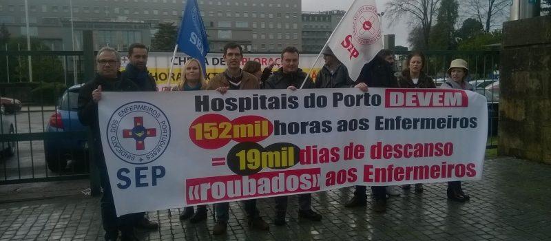 """Hospitais do Porto devem 152 mil horas/19 mil dias de descanso """"roubados"""" aos enfermeiros"""