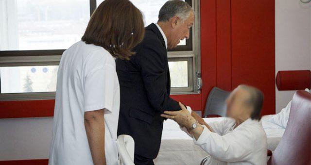 Presidente da República visita hospital de Guimarães e o SEP marca presença
