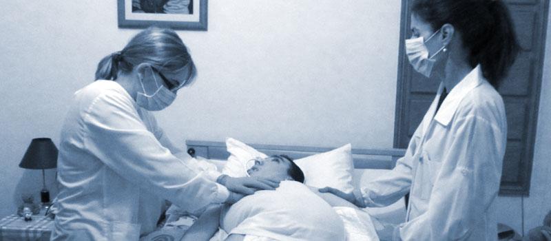 Doentes dependentes no domicílio sem cuidados de enfermagem em Viseu