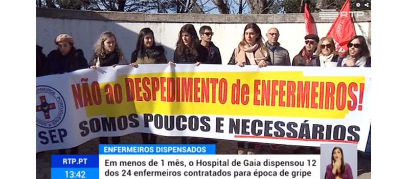 Centro Hospitalar Vila Nova de Gaia despede enfermeiros imprescindíveis ao seu funcionamento
