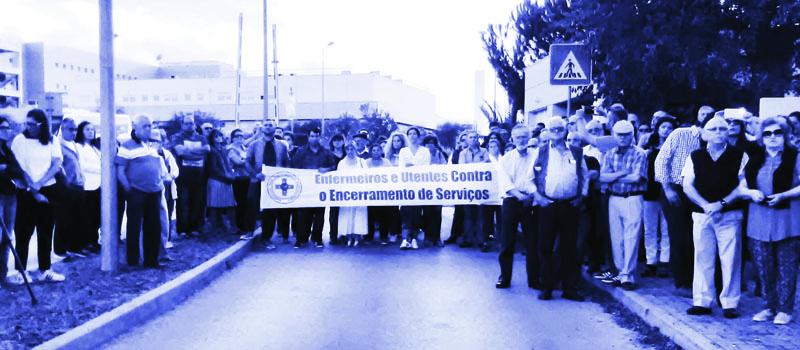 Concentração no Hospital Litoral Alentejano