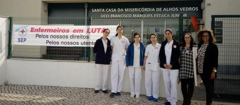 Enfermeiros da Santa Casa da Misericórdia de Alhos Vedros em greve