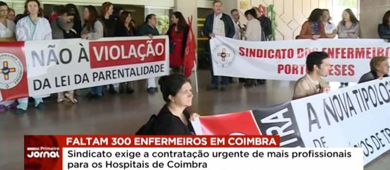 Reportagem SIC: Enfermeiros de Coimbra exigem contratação urgente