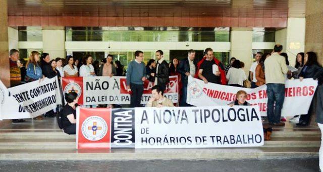 Greve e concentração nos Hospitais da Universidade de Coimbra pelos horários de trabalho