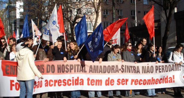 Greve e concentração no Hospital Fernando Fonseca dia 22 maio