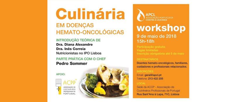 """""""Workshop – Culinária em doenças hemato-oncológicas"""""""