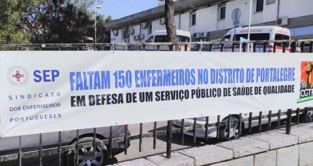 Faltam 150 enfermeiros no distrito de Portalegre