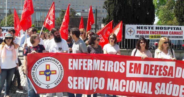 Enfermeiros do Hospital de São João em greve