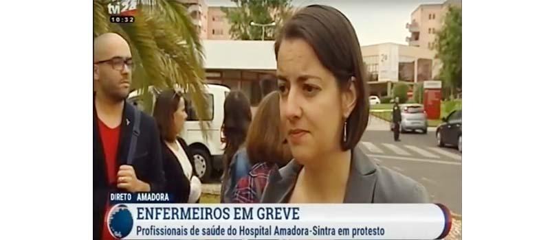 Greve e concentração no Hospital Amadora-Sintra