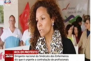 Protesto dos enfermeiros do Hospital Garcia de Orta