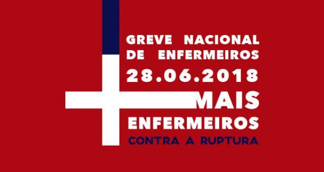 Greve nacional de enfermeiros a 28 de junho – turnos da manhã e da tarde