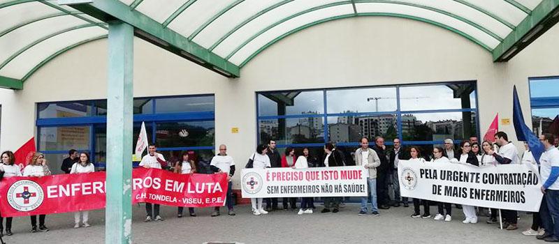 Protesto dos enfermeiros do Centro Hospitalar Tondela-Viseu