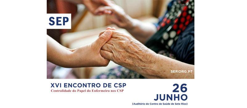 XVI Encontro de Cuidados de Saúde Primários a 26 de junho