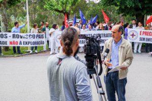 Protesto de Enfermeiros no Hospital Rovisco Pais
