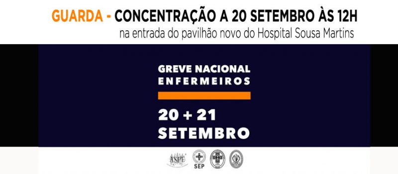 Guarda: concentração a 20 de setembro às 12 horas