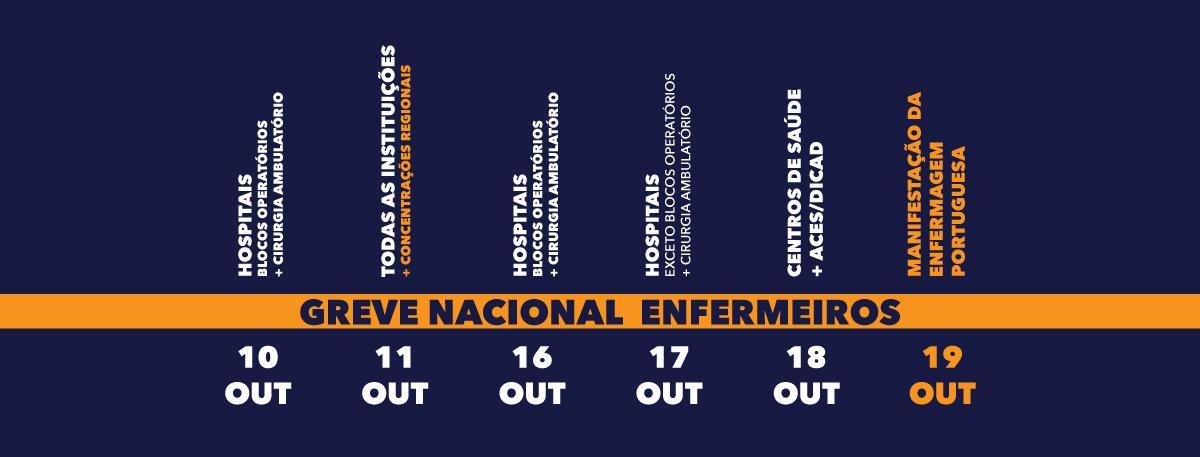 Greve Nacional entre 10 e 19 outubro 2018