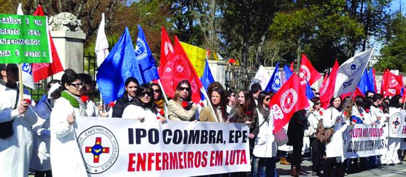 IPO de Coimbra: concentração contra o despedimento de enfermeiros