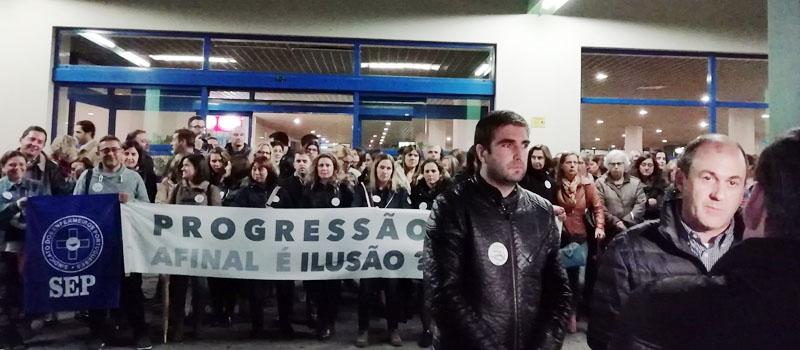 Greve e concentração no Hospital Tondela Viseu e ACES Dão Lafões