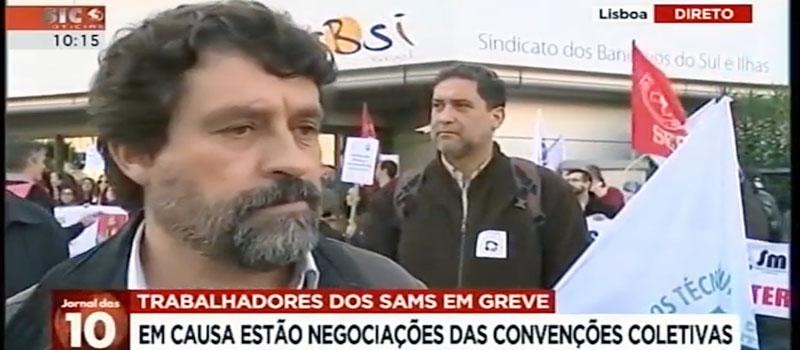 Trabalhadores dos SAMS em greve