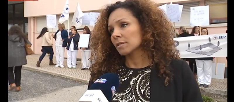 Enfermeiros do Centro Hospitalar Barreiro Montijo em protesto