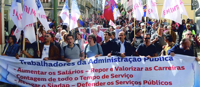 Frente Comum de Sindicatos da Administração Pública exige aumento salarial