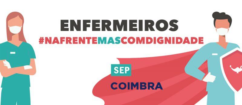 Coimbra: realiza cordão humano pela luta na resolução dos problemas dos enfermeiros