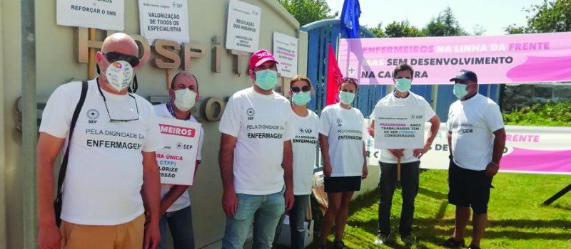 Concentração de enfermeiros – Hospital São Teotónio (Viseu), 9 julho, 11 horas