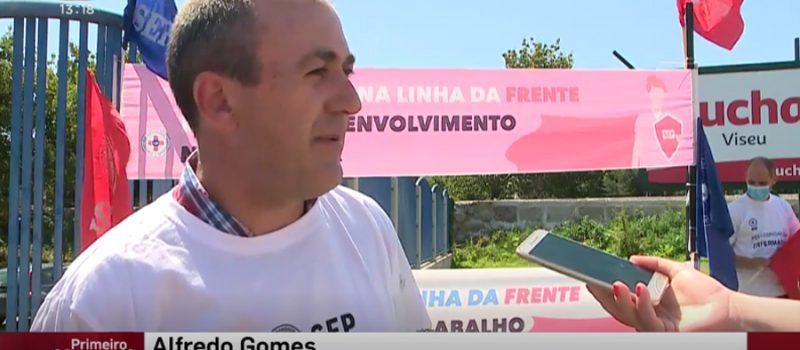 Beira Alta: reivindicámos os nossos direitos hoje à porta do Hospital de Viseu