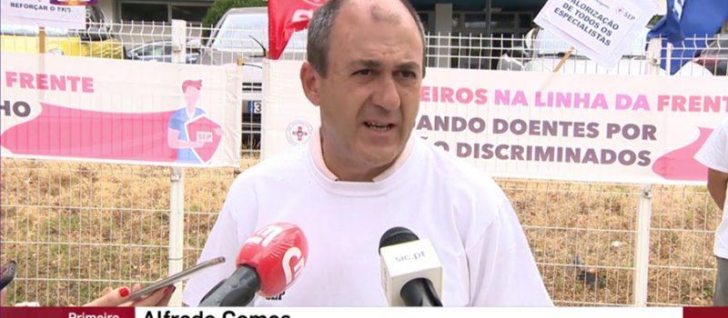 Unidade de Saúde de Bragança: protesto contra a discriminação profissional