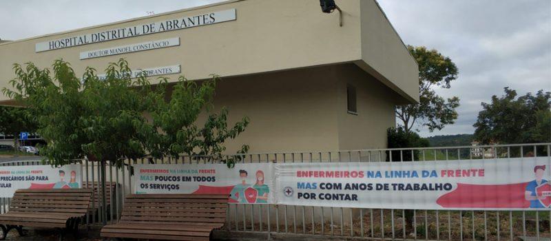 Santarém: exposição dos nossos problemas – em frente ao Hospital de Abrantes, 29 julho