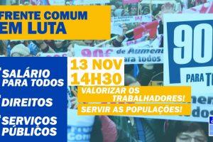Frente Comum em luta: manifestação a 13 de novembro