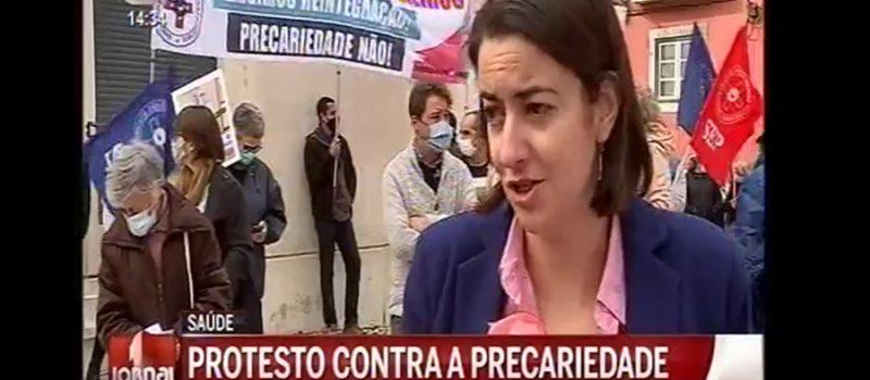 Protesto no Hospital S. José pelo despedimento de 2 enfermeiras