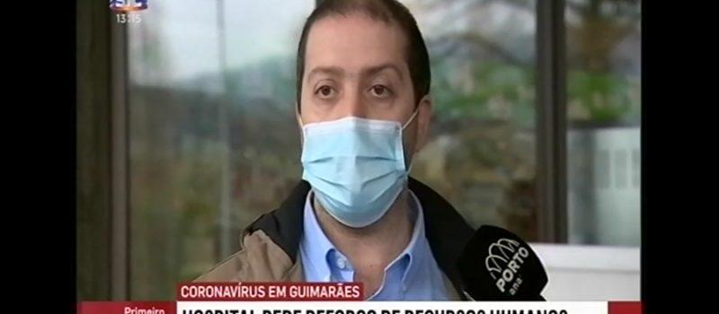Coronavírus em Guimarães e contratação de profissionais