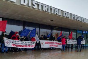 Protesto de enfermeiros na Figueira da Foz