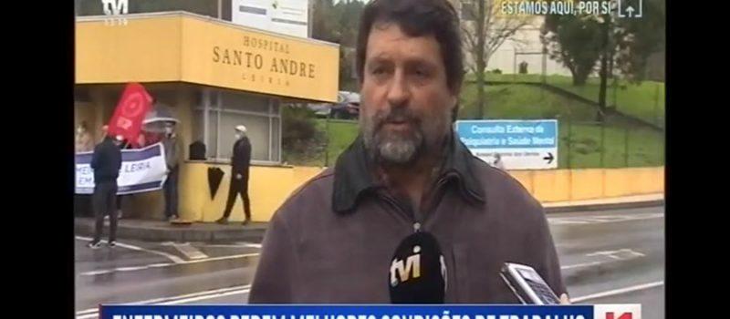 Protesto no Hospital de Leiria pela impassividade da administração