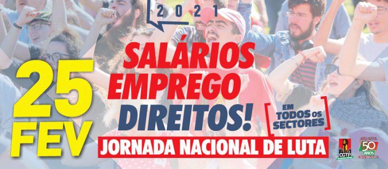 CGTP: Grande Jornada Nacional de Luta no 25 de fevereiro