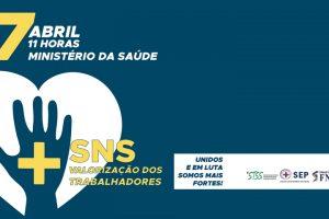 Dia Mundial da Saúde: ação em frente ao Ministério da Saúde a 7 abril