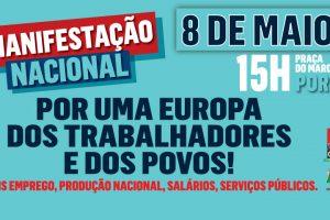 Manifestação nacional da CGTP a 8 de maio