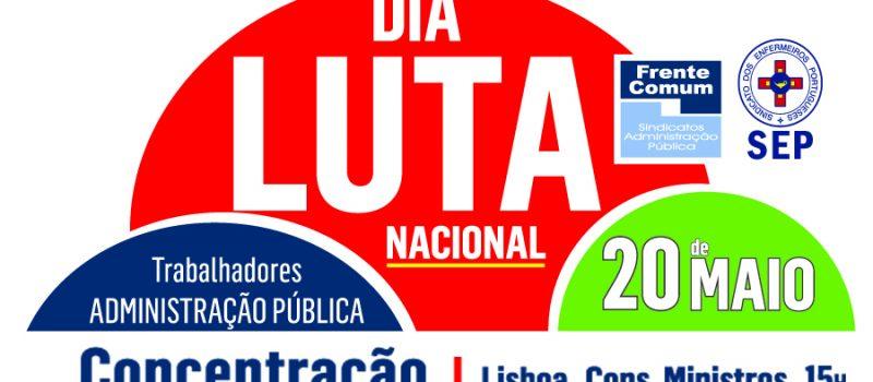 Frente Comum: dia nacional de luta a 20 de maio