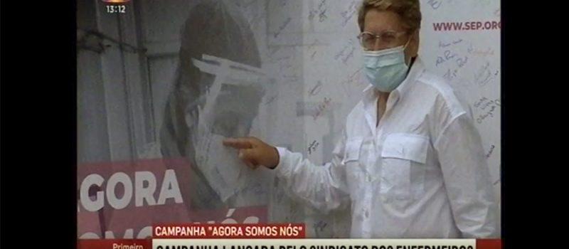 """Campanha """"Agora Somos Nós"""" no centro de vacinação de Grijó"""